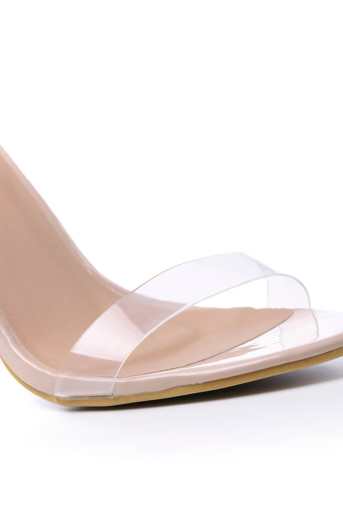 Nude Clear Strap Heels view 5