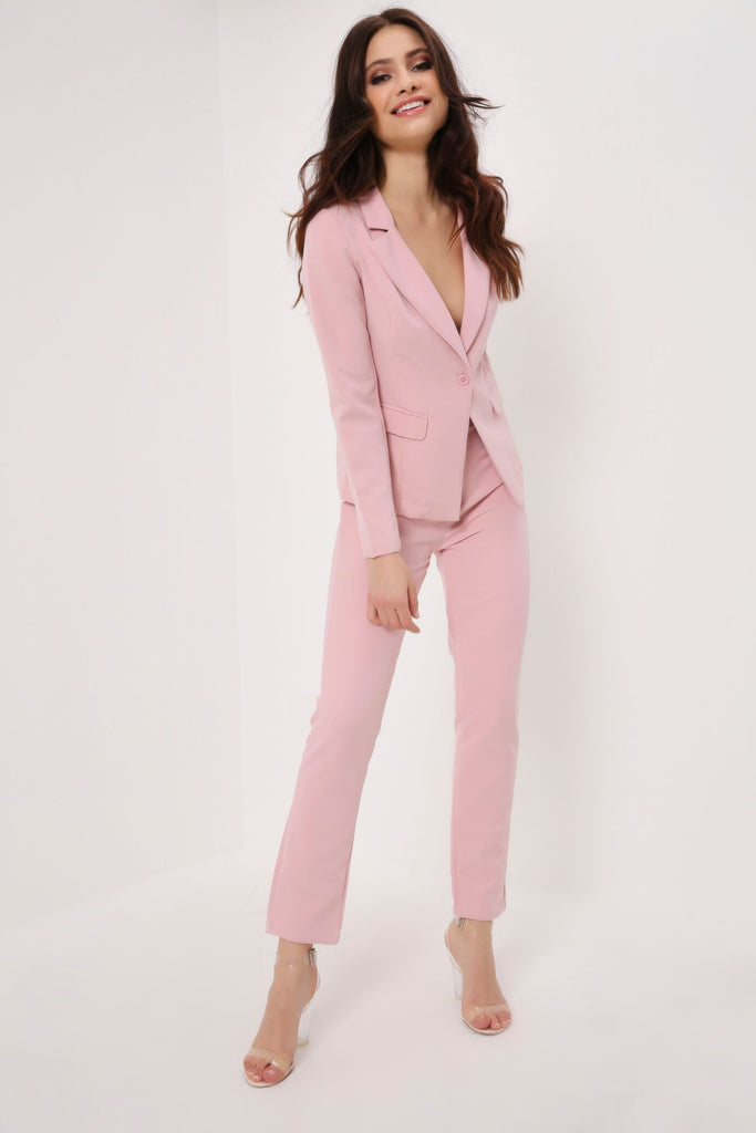 Lightpink Slim Leg Suit Trousers view 2
