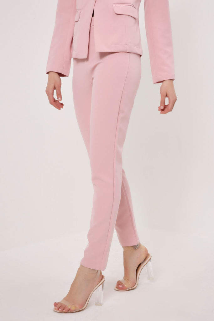 Lightpink Slim Leg Suit Trousers view 3