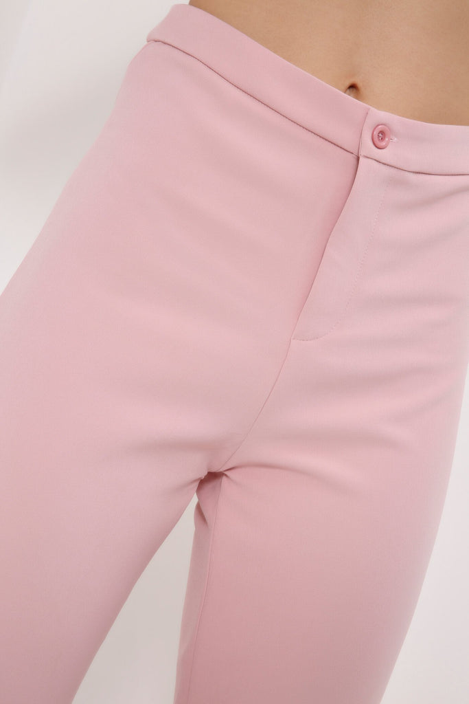 Lightpink Slim Leg Suit Trousers view 4