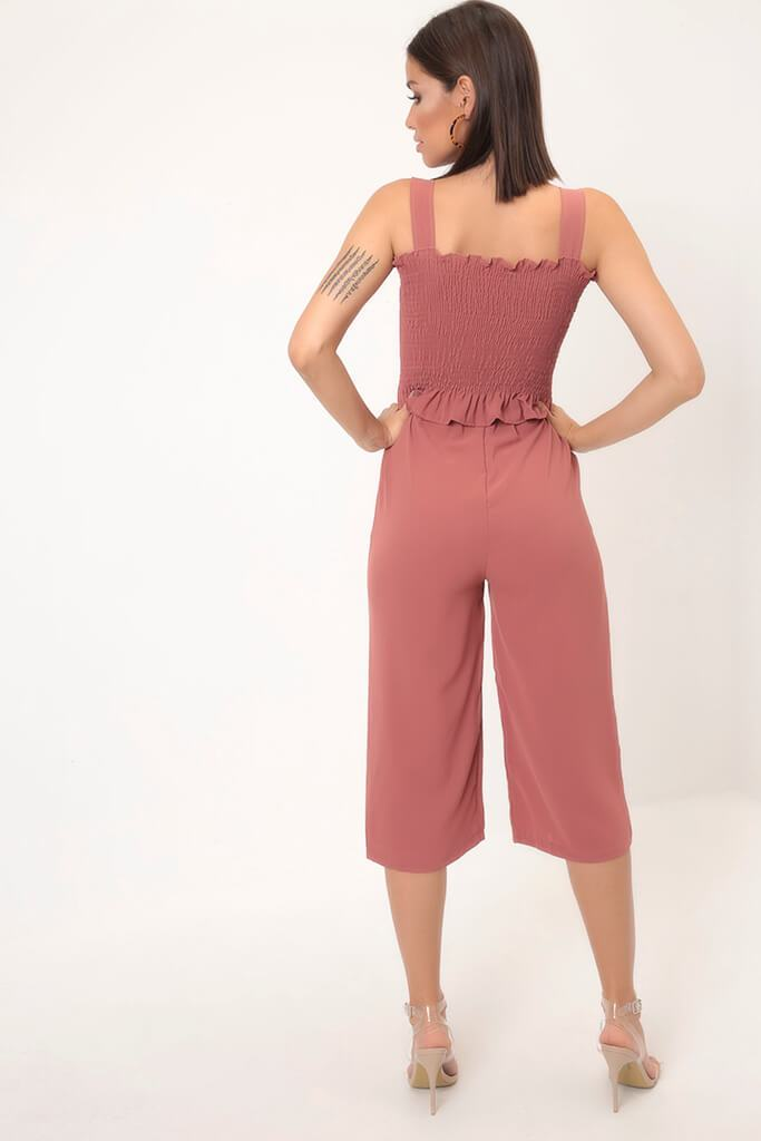 Rust Wide Leg Culottes view 5
