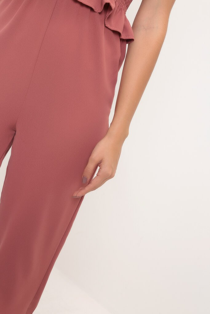 Rust Wide Leg Culottes view 4