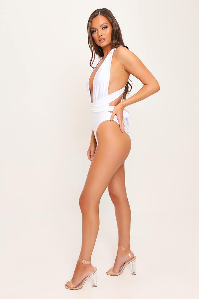 White Wear Me Any Way Plunge Swimsuit