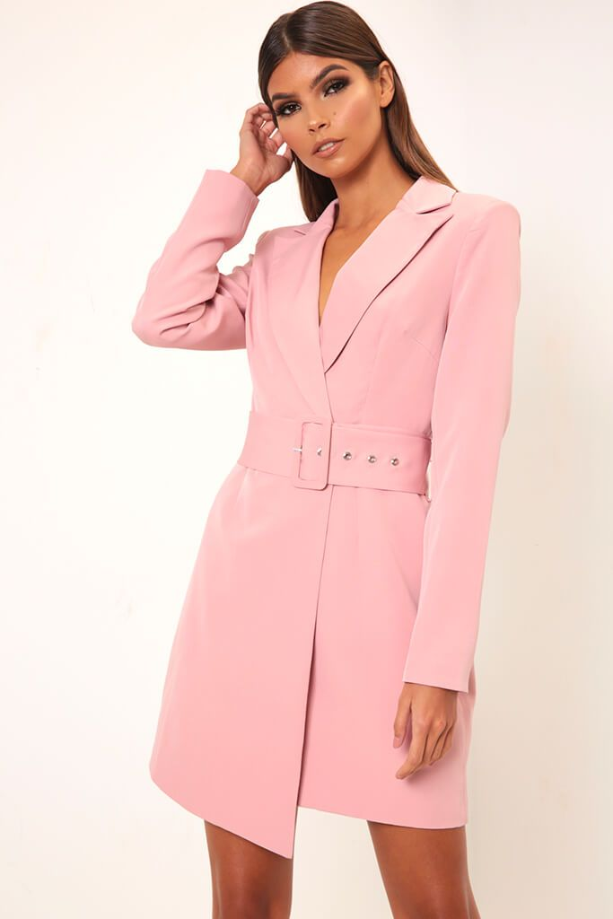 Rose Double Breasted Blazer Dress view 4