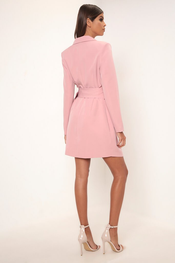 Rose Double Breasted Blazer Dress view 5