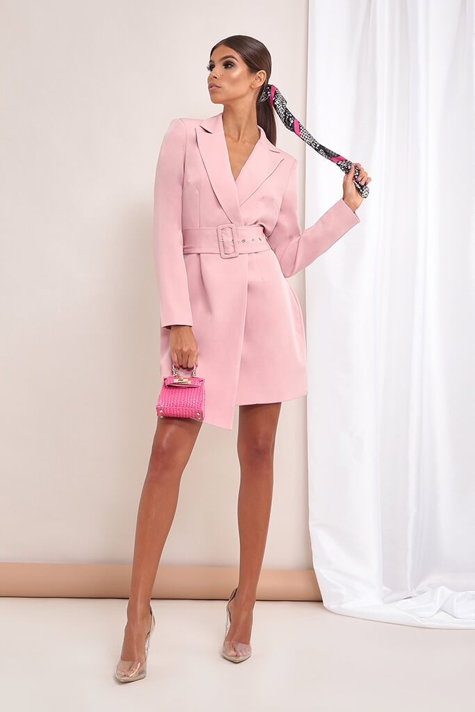Rose Double Breasted Blazer Dress