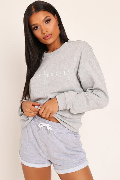 Grey Turn Up Loopback Runner Shorts by I Saw It First