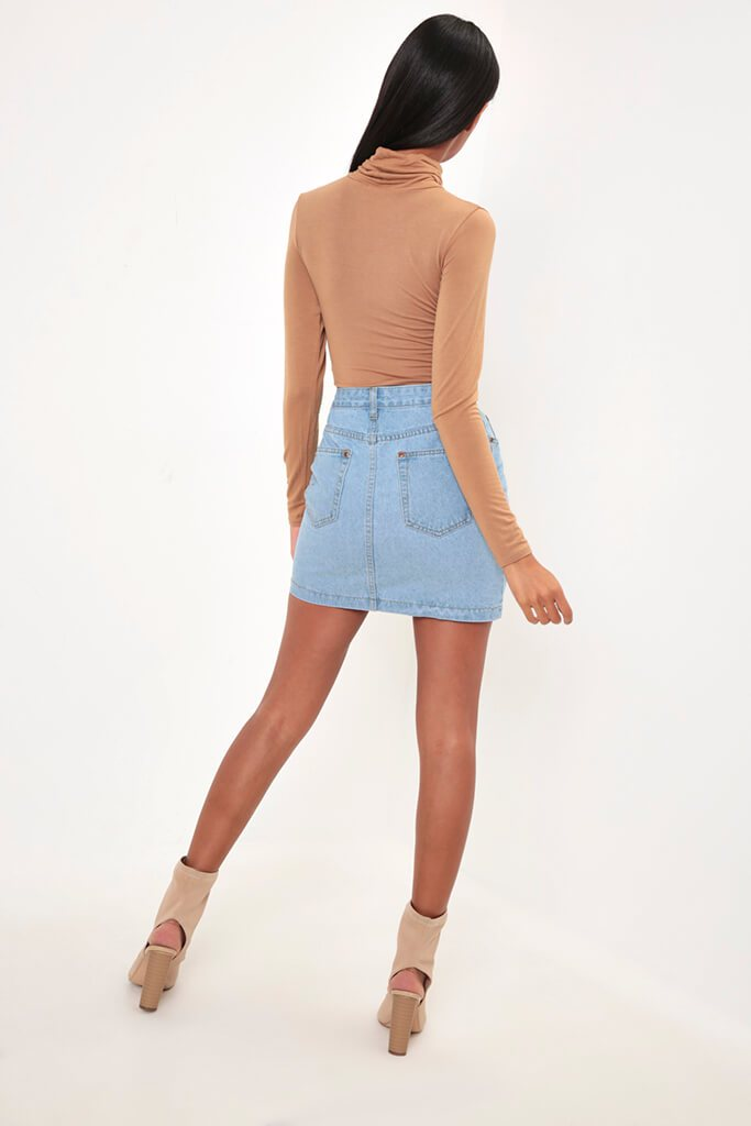 Stonewash Denim Mini Skirt view 5