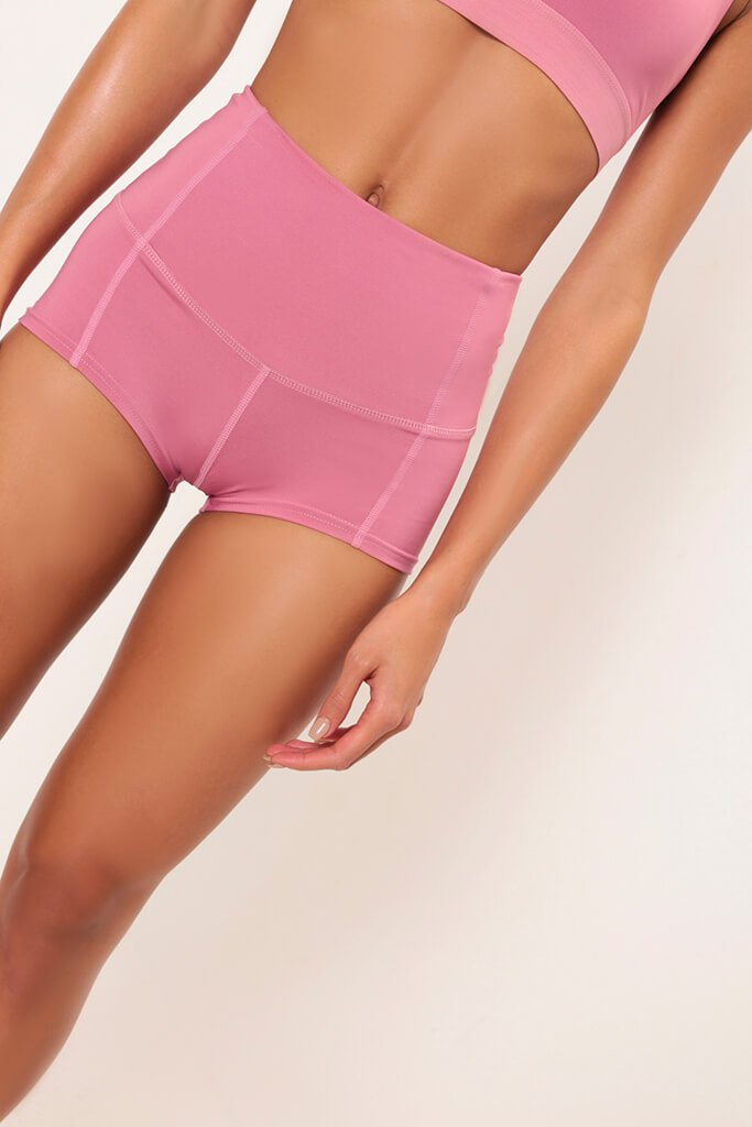 Fuchsia Basic High Waisted Active Shorts view 4