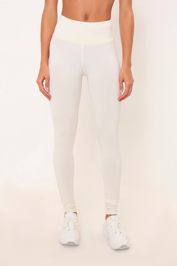 Cream Basic Active Leggings view 2