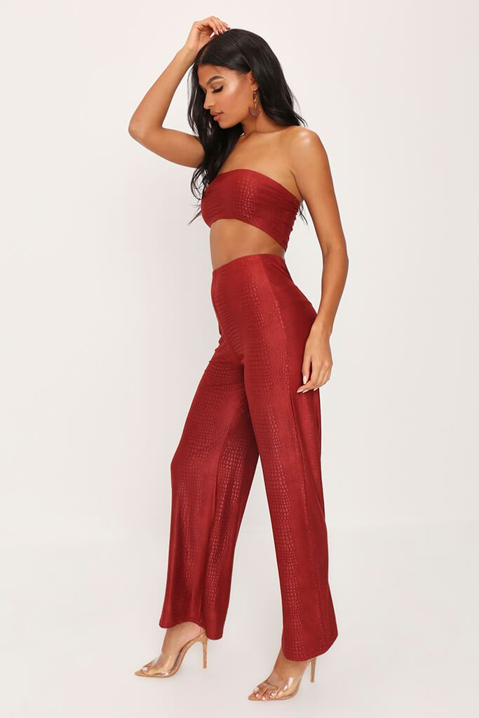 Rust Suede Tie Back Crop Top view 3