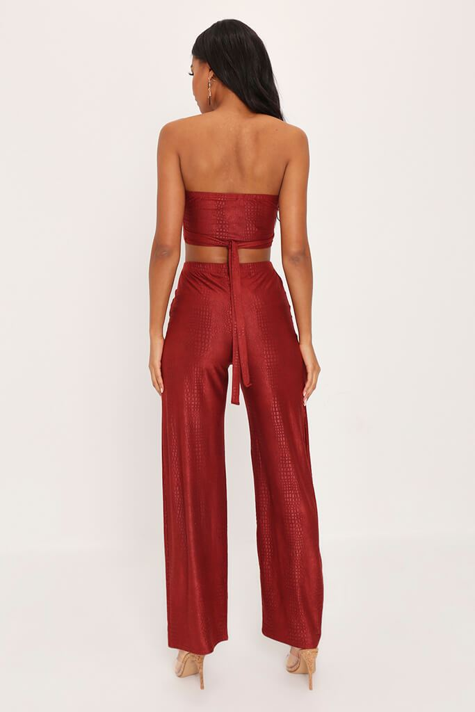 Rust Suede Tie Back Crop Top view 5