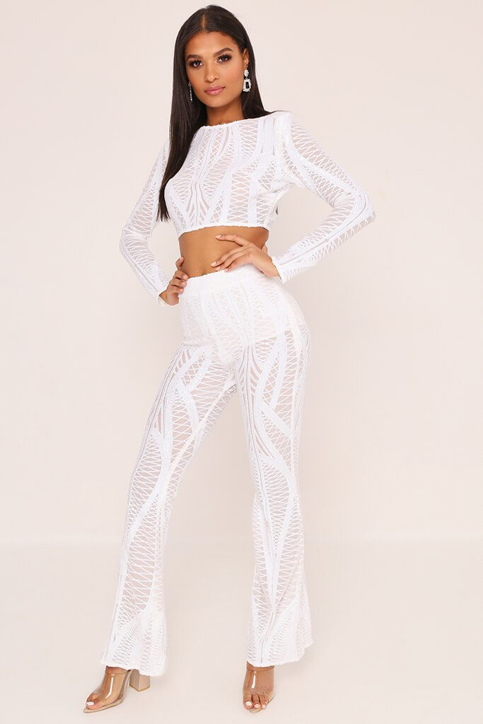 d5ad47fdc08 White Sequin Crop Top – I SAW IT FIRST
