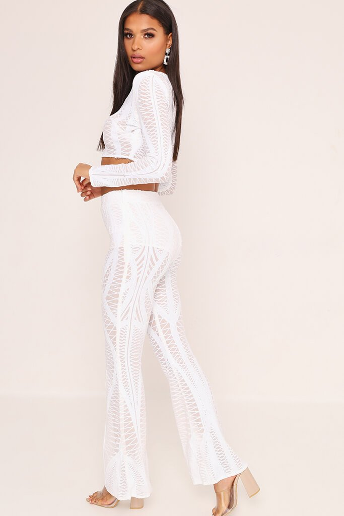 e88a08f476b White Sequin Crop Top – I SAW IT FIRST