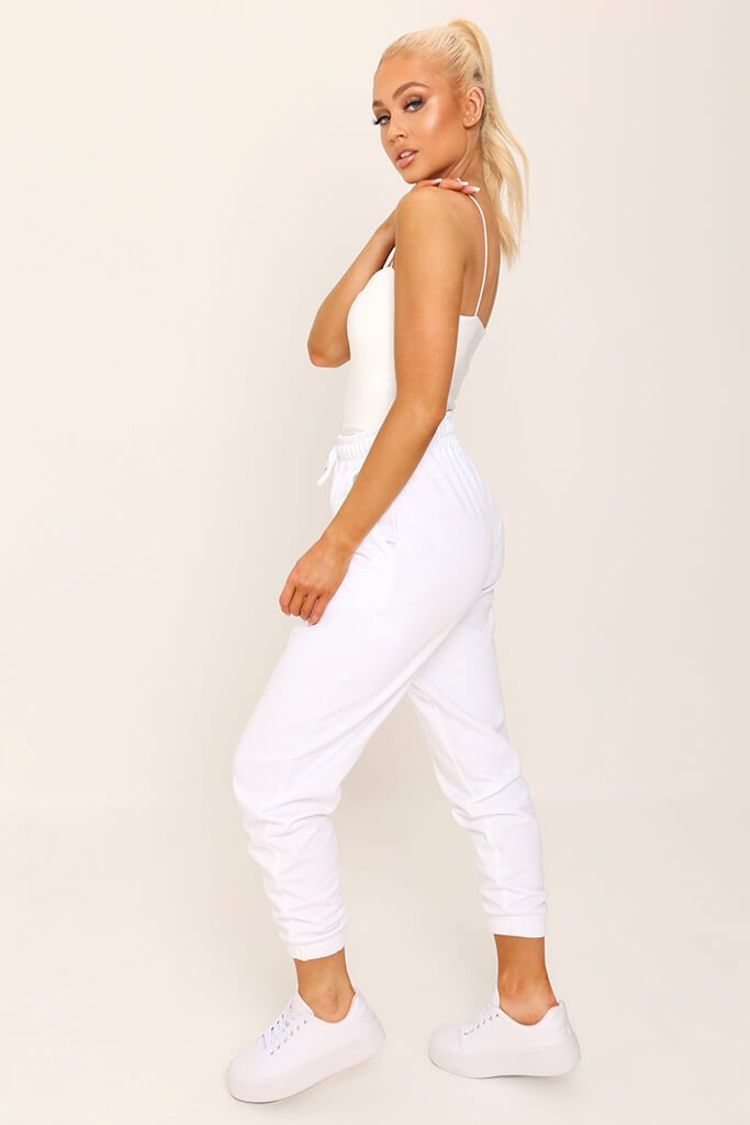 White Double Layer Square Neck Bodysuit view 4