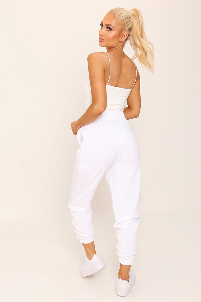White Double Layer Square Neck Bodysuit view 5