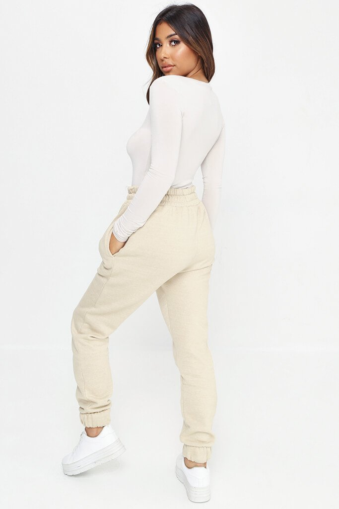Sand Notch Front Long Sleeve Bodysuit view 5