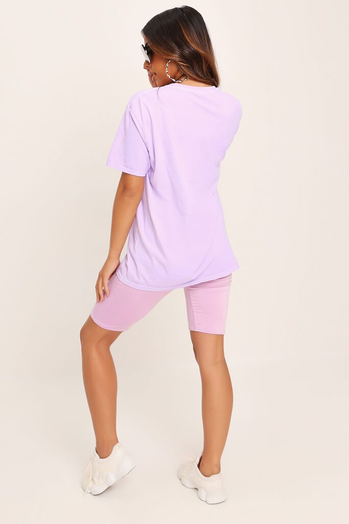 Lilac Yves Saint Oversized T-Shirt view 5
