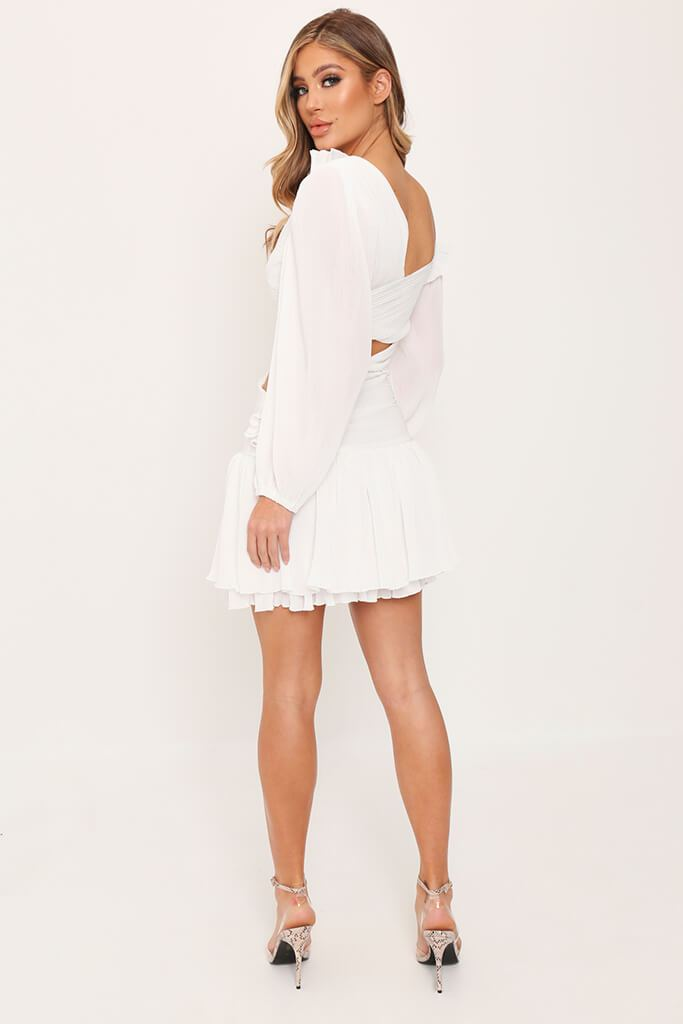 White Asymmetric Mini Dress view 5