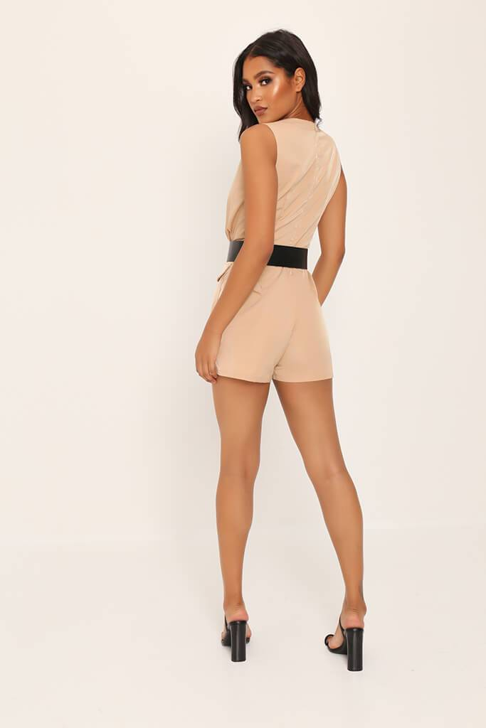 Camel Utility Belted Playsuit view 5
