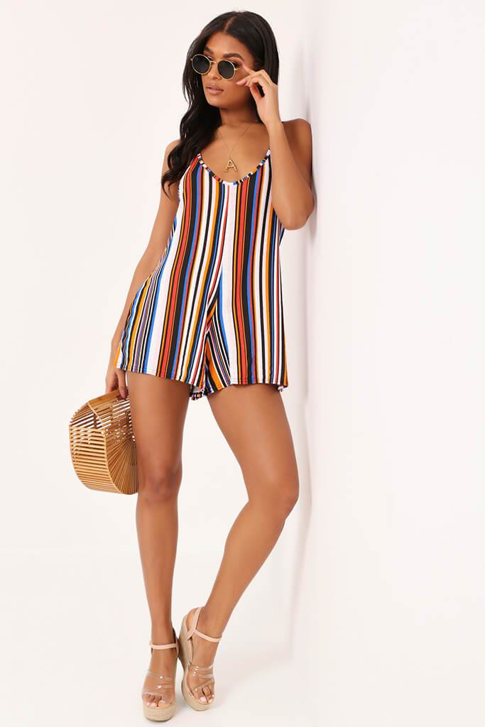 Multi Stripe Swing Playsuit view 2