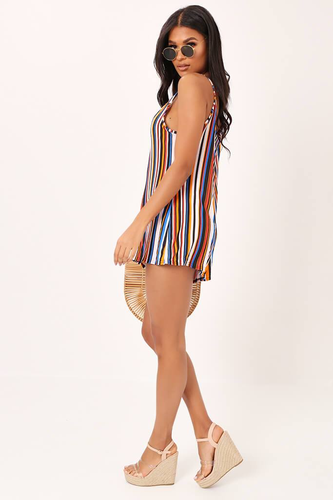 Multi Stripe Swing Playsuit view 3