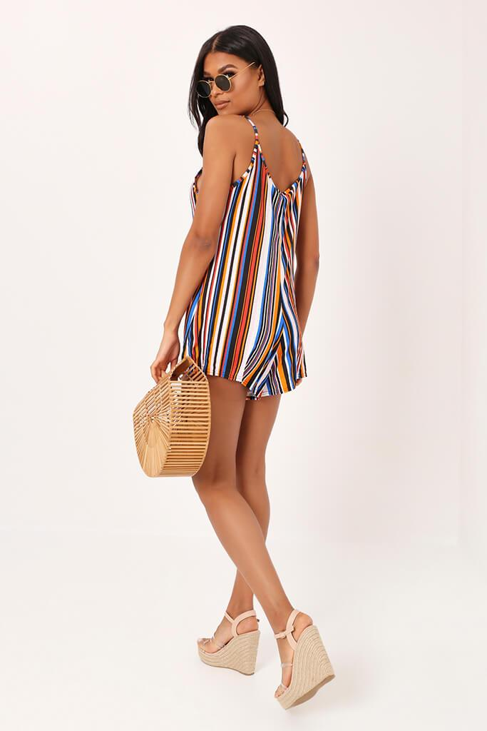 Multi Stripe Swing Playsuit view 5