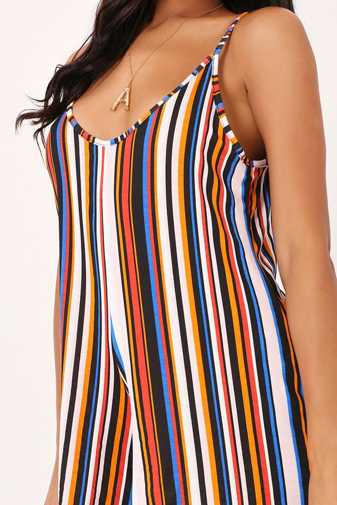 Multi Stripe Swing Playsuit view 4