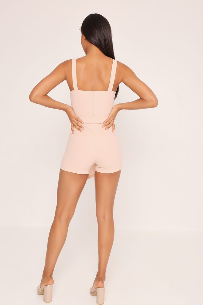 Beige Pocket Front Playsuit view 5