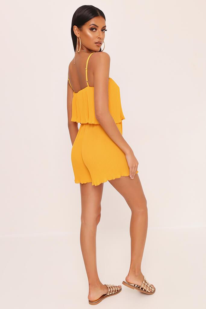 Yellow Pleated Strappy Playsuit view 5