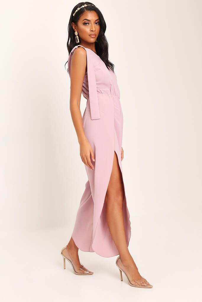Pink Bow One Shoulder Jumpsuit view 3