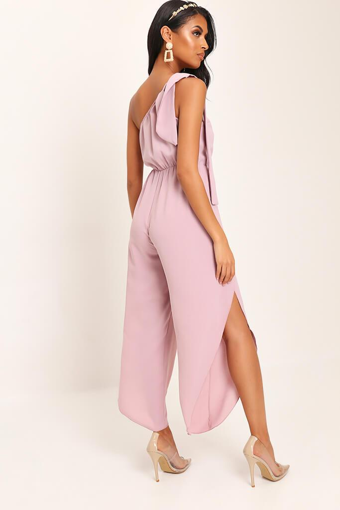 Pink Bow One Shoulder Jumpsuit view 5