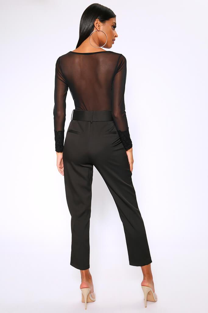 Black Belted Cigarette Trousers view 5