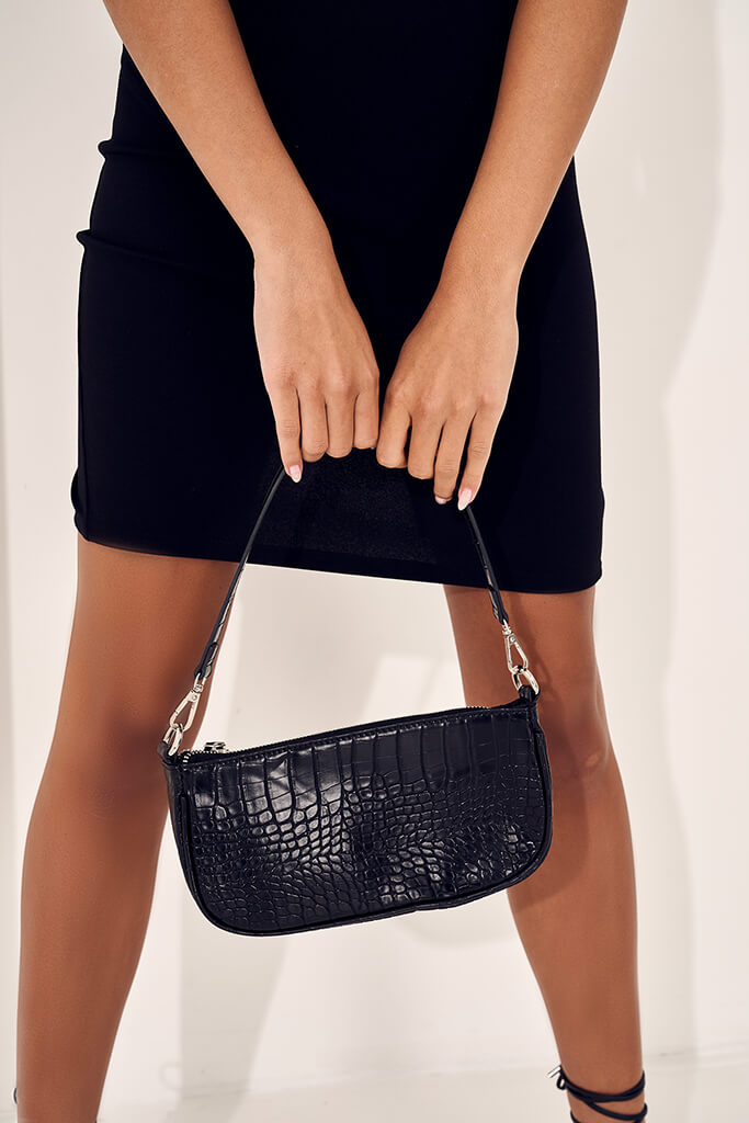 cROC Print Faux Leather MINI CROSSBODY BAG