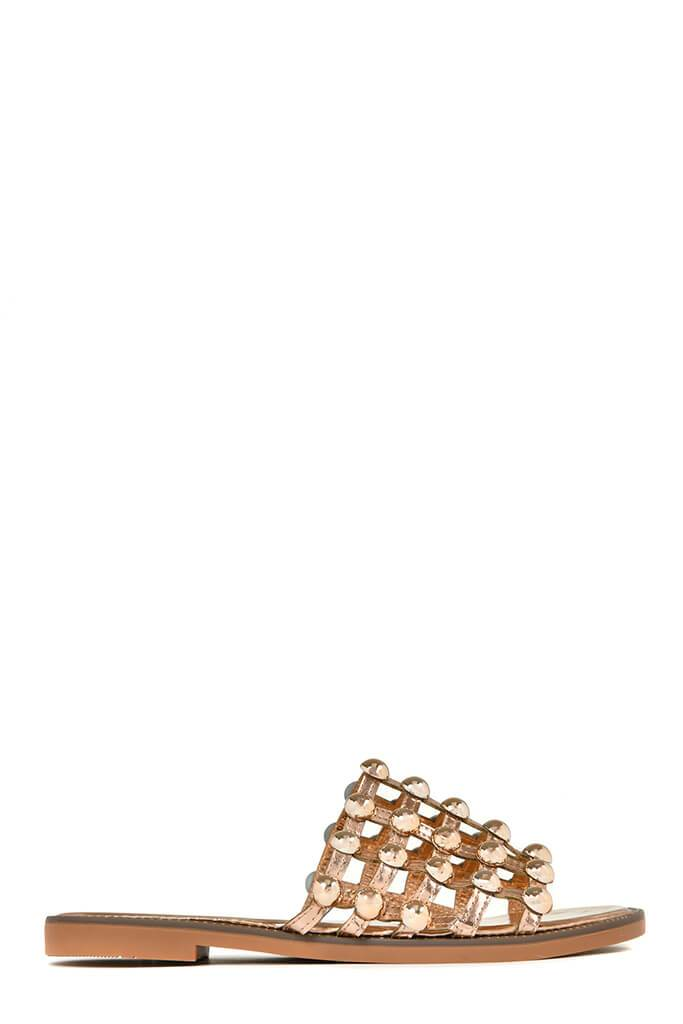 Rose Gold Studded Sandals view 3