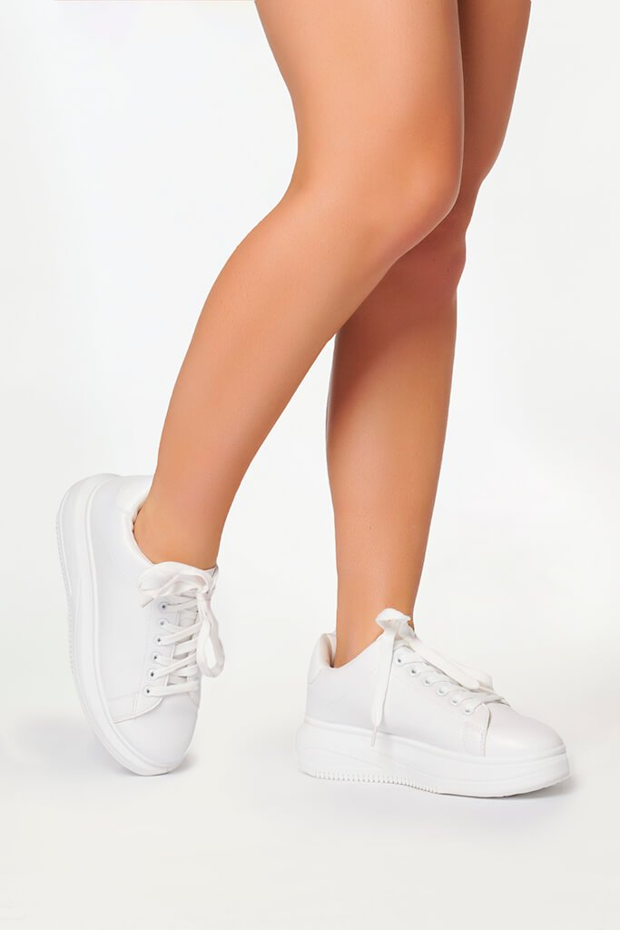White Basic Platform Trainers view 2
