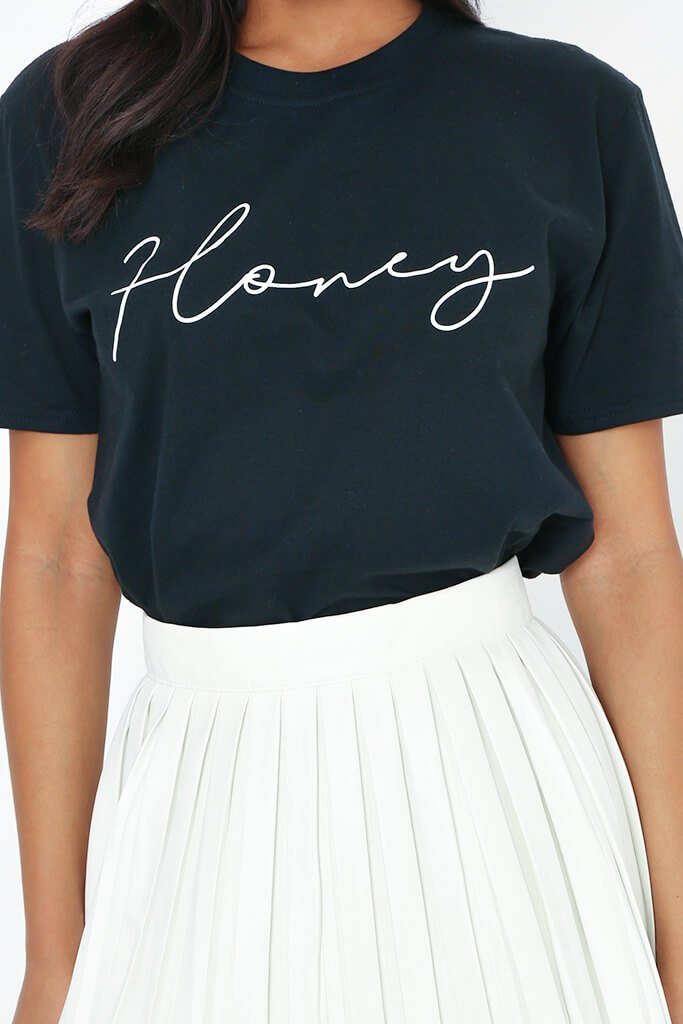 Black Honey Slogan Oversized T-Shirt view 4