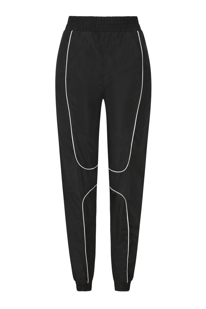 Black Piped Shell Joggers view 5