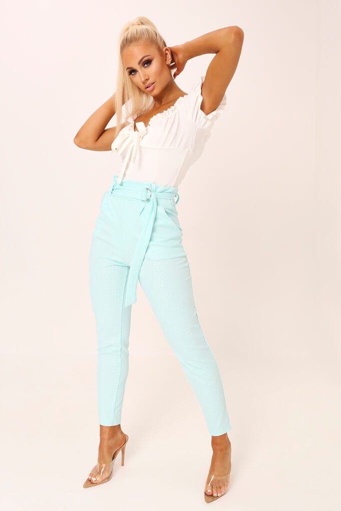 Mint D Ring Belted Trousers