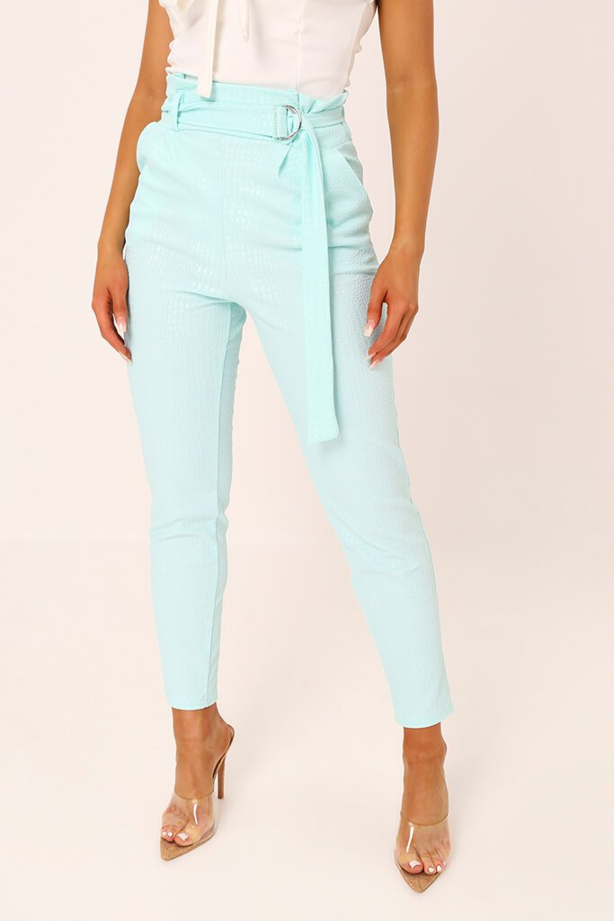Mint D Ring Belted Trousers view 2