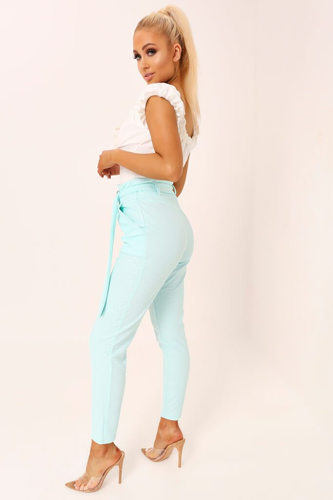 Mint D Ring Belted Trousers view 3