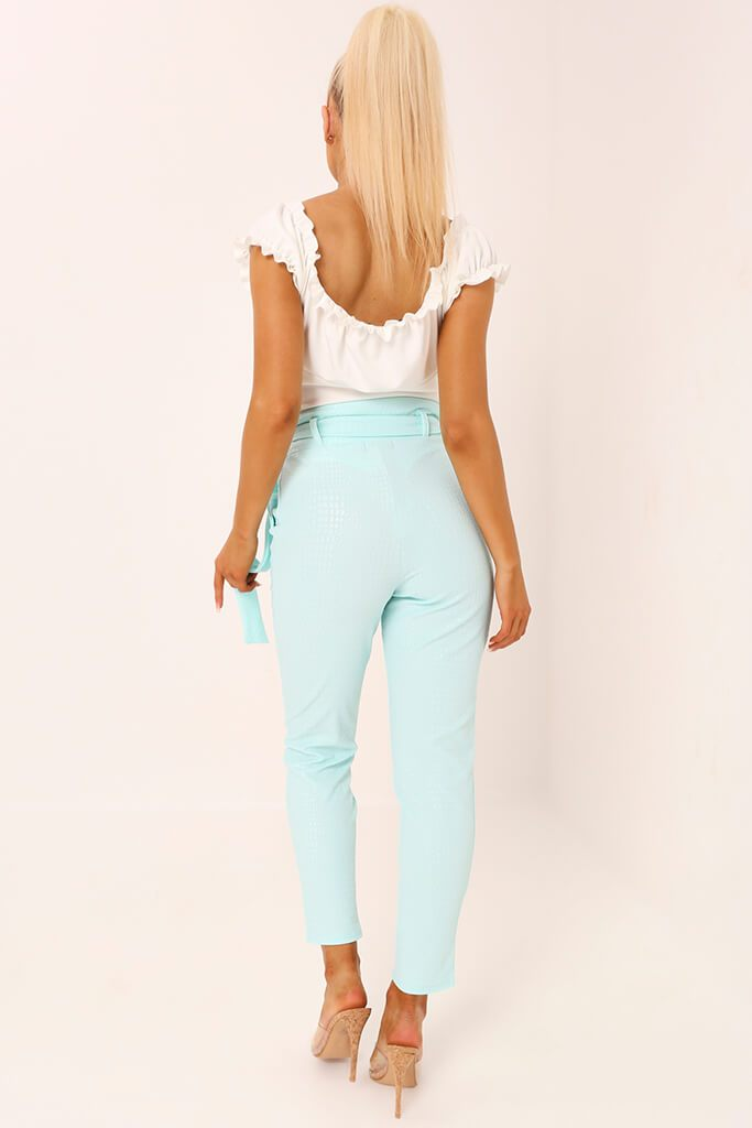 Mint D Ring Belted Trousers view 5