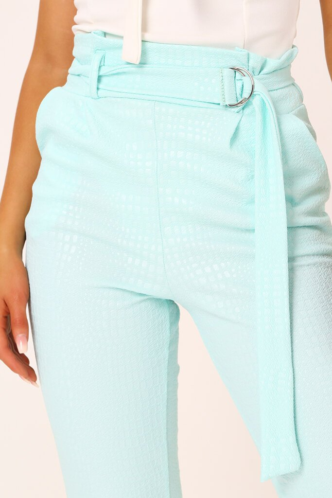 Mint D Ring Belted Trousers view 4