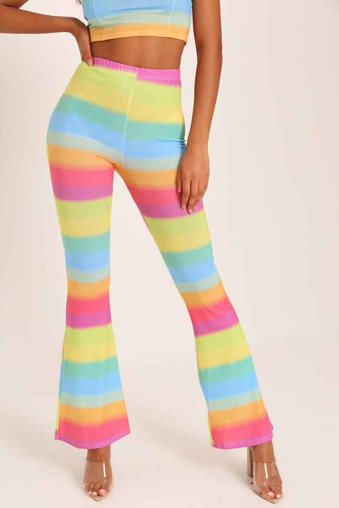 Multi Rainbow Flare Trousers view 2