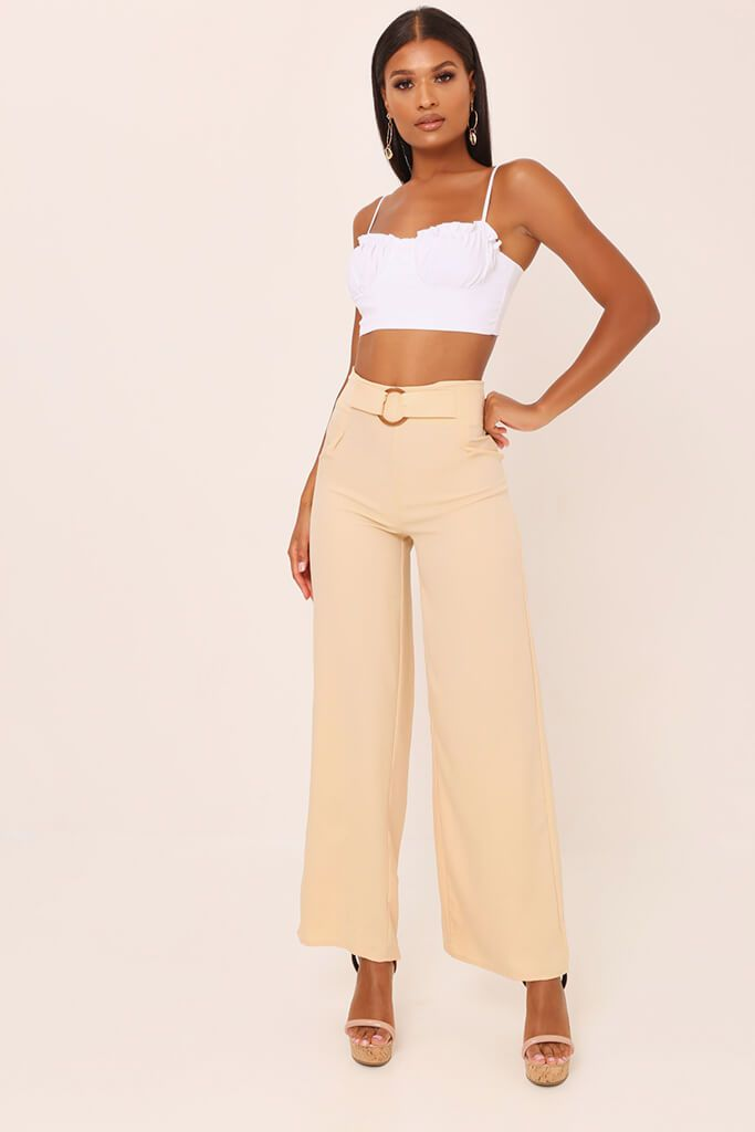 Nude Tailored O Ring Wide Leg Trousers