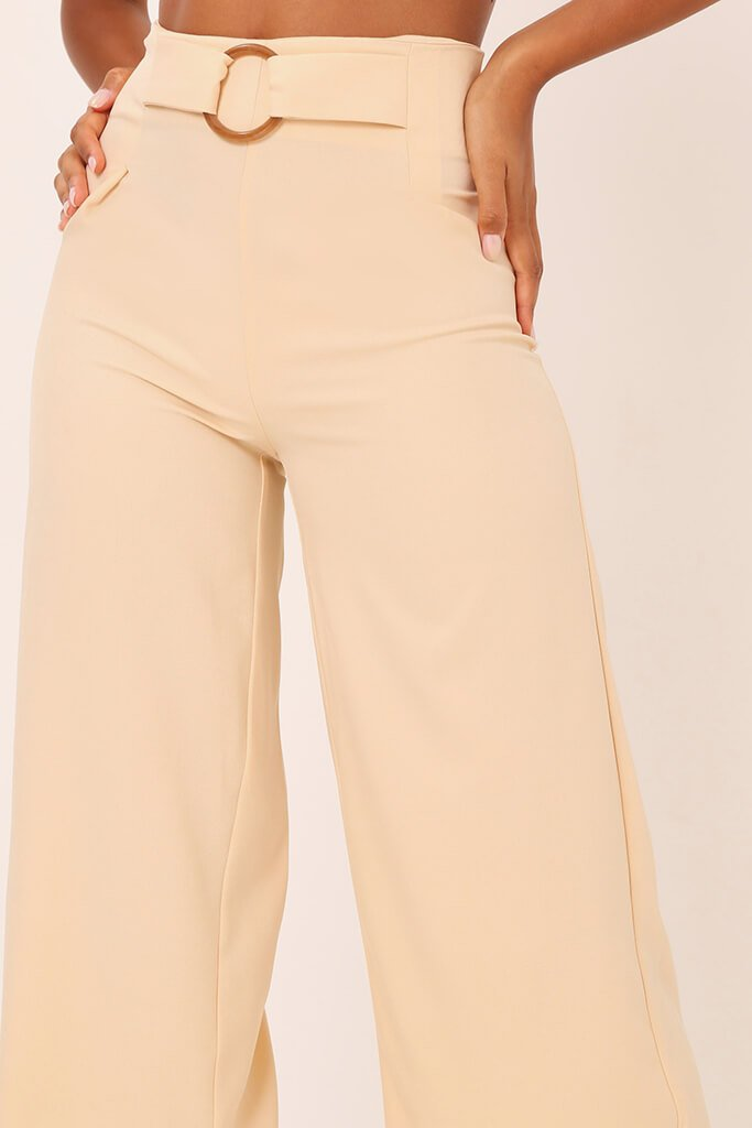 Nude Tailored O Ring Wide Leg Trousers view 4
