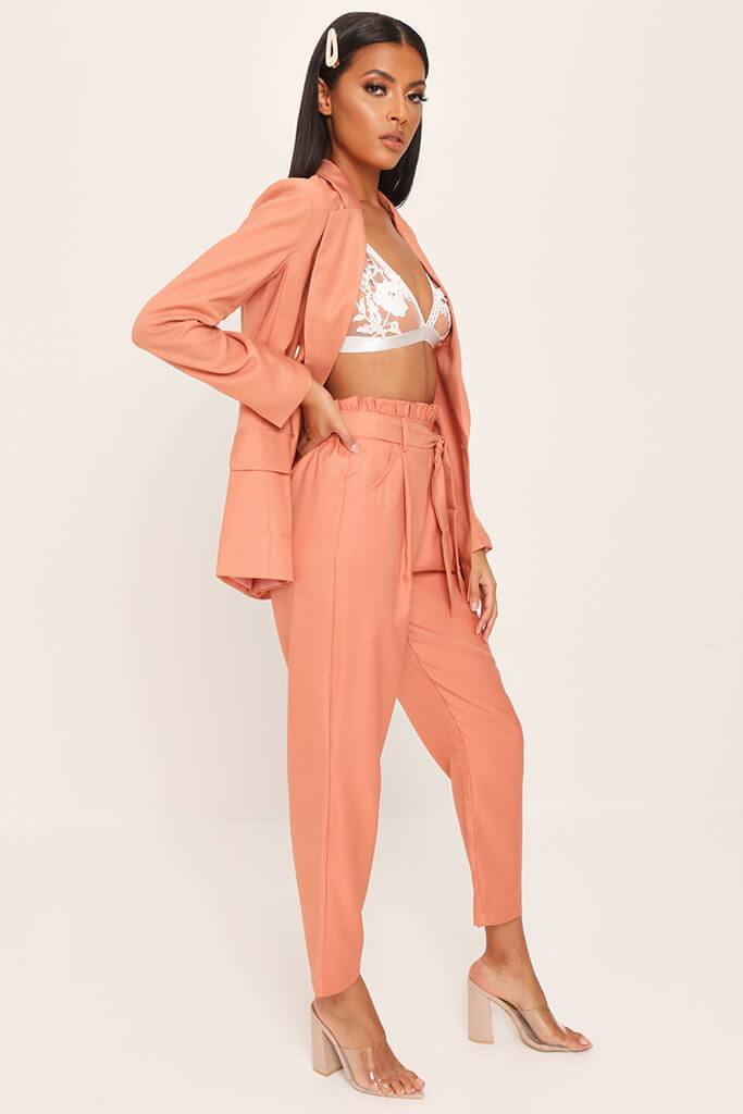 Orange Tie Belted Trousers view 3