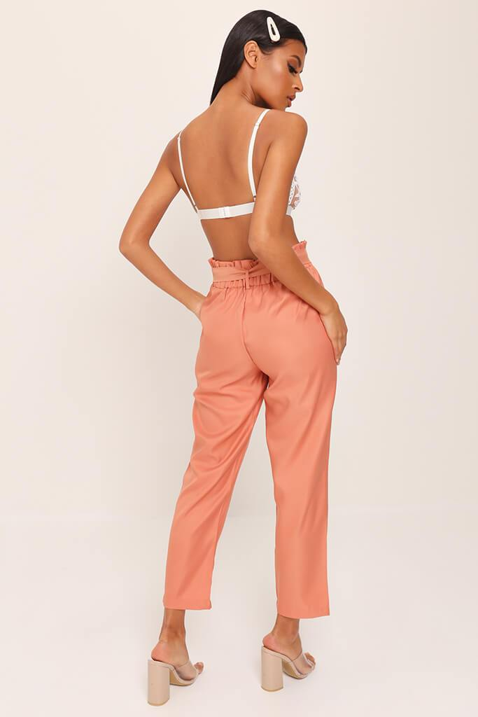 Orange Tie Belted Trousers view 5