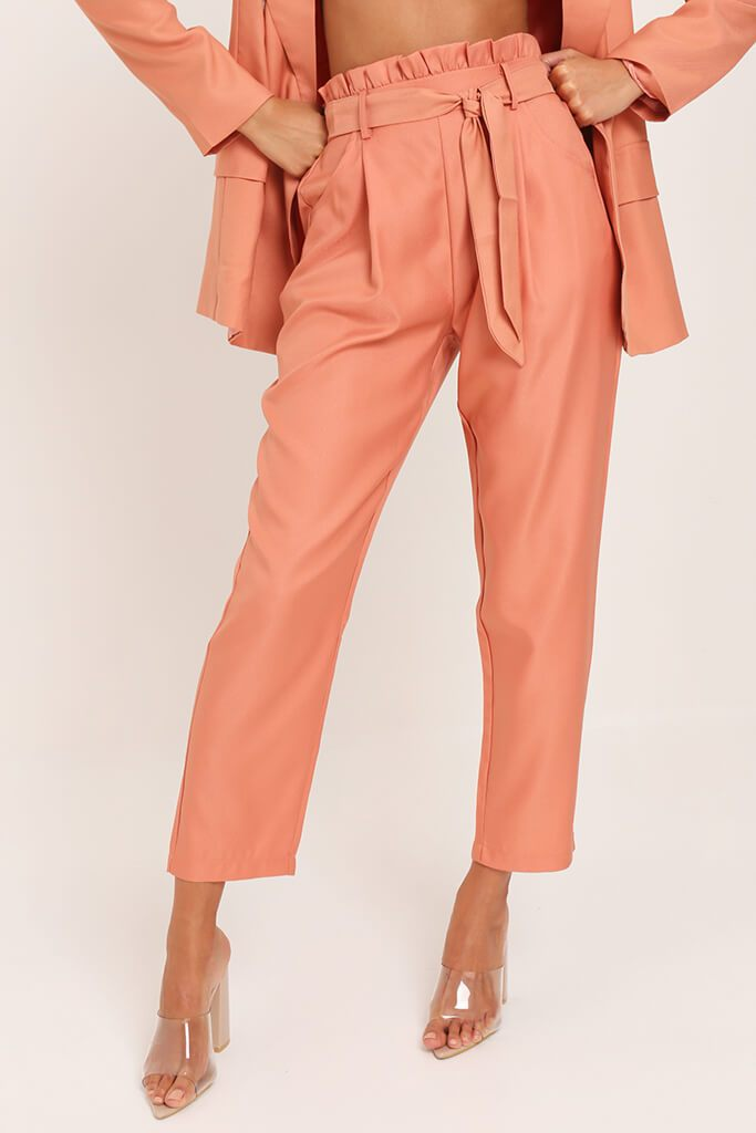 Orange Tie Belted Trousers view 2