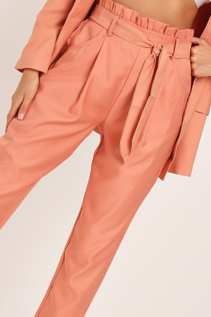 Orange Tie Belted Trousers view 4